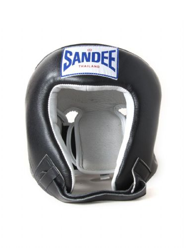 Sandee Kids Open Face Head Guard - Black